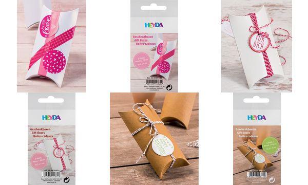 HEYDA Geschenkbox, Karton, klein, creme