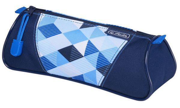 herlitz Schlamper-Etui Dreikant Blue Cubes, aus Polyester