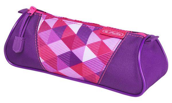 herlitz Schlamper-Etui Dreikant Pink Cubes, aus Polyester