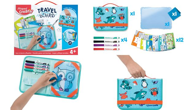 Maped Creativ Reisemalset TRAVEL BOARD, 19-teilig
