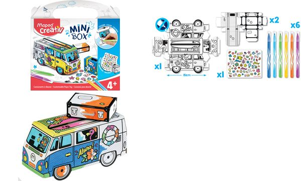 Maped Creativ MINI BOX Mal- & Bastelset 3D-SURFER-BUS
