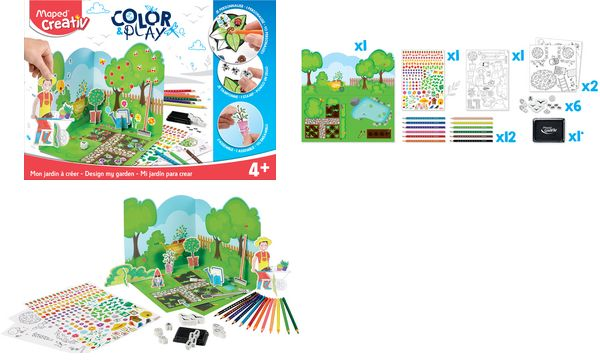 Maped Creativ COLOR & PLAY Kreativset Design my garden
