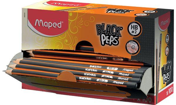 #100xMaped Bleistift BLACKPEPS, Härtegrad: HB, 100er Di...