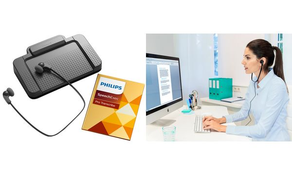 PHILIPS Digitales Wiedergabe-/Transkriptions-Set LFH7277