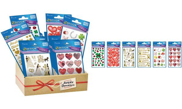 AVERY Zweckform ZDesign Sticker-Sortiment Hochzeit & Li...