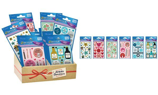 AVERY Zweckform ZDesign Sticker-Sortiment Party & Deko