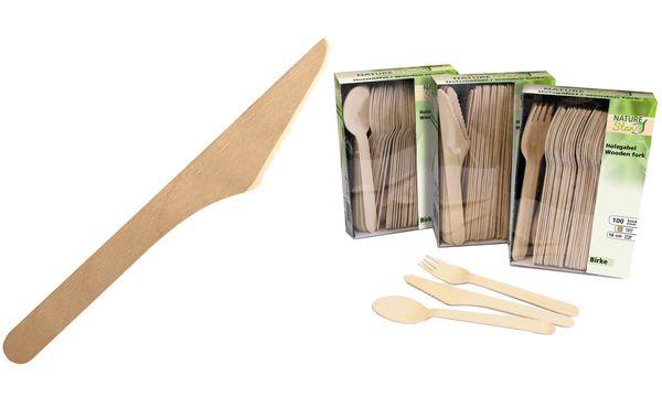franz mensch Holz-Messer NATURE Star, Länge: 160 mm