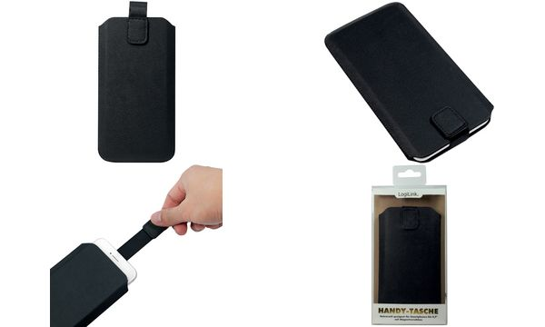 LogiLink Smartphone-Köchertasche, 4,7 (11,93 cm), schwarz