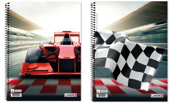 Landré Collegeblock Motorsport, DIN A4+, liniert, 80 B...
