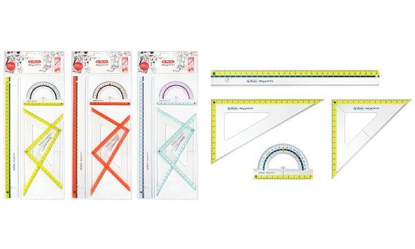 herlitz Geometrie-Set my.pen, 4-teilig, farbig sortiert