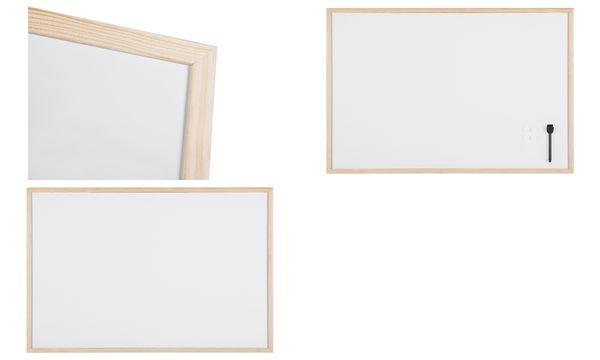 Bi-Office Weißwandtafel, mit Holzrahmen, (B)400 x (H)300 mm
