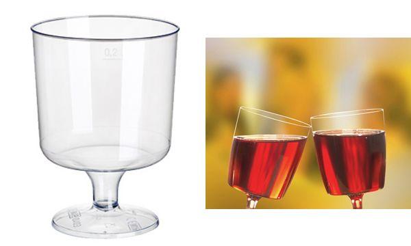 PAPSTAR Kunststoff-Rotweinglas, 0,2 l, glasklar