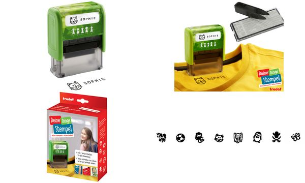 trodat Textstempelautomat Deine Dinge Stempel, grün