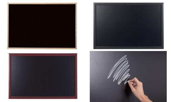 Bi-Office Kreidetafel, schwarzer Rahmen, 600 x 400 mm