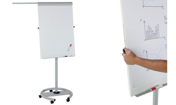 FRANKEN Flipchart ECO Mobil Touch, 680 x 1.040 mm, grau