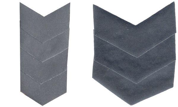 KWM Sicherheits-Flecken Ecken, silber