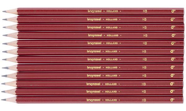 bruynzeel Bleistift BASIC, sechskant, Härtegrad: HB, rot