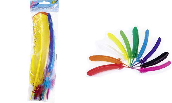 folia Indianerfedern, Länge: 300-350 mm, farbig sortiert