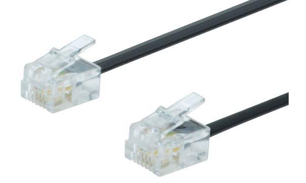 DIGITUS UAE Modular-Kabel, RJ11 - RJ11 Stecker, 3,0 m
