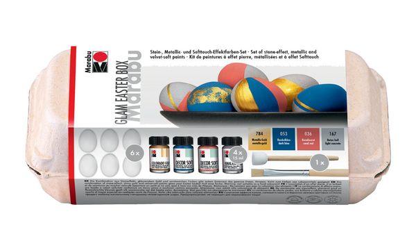 Marabu Acryl-Softfarbe DECOR SOFT, Set Glam Easter Box