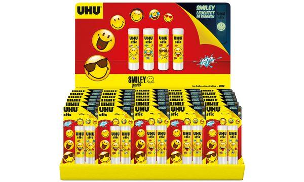 UHU Klebestift stic Smiley Edition, 3 x 8,2 g, 30er Display