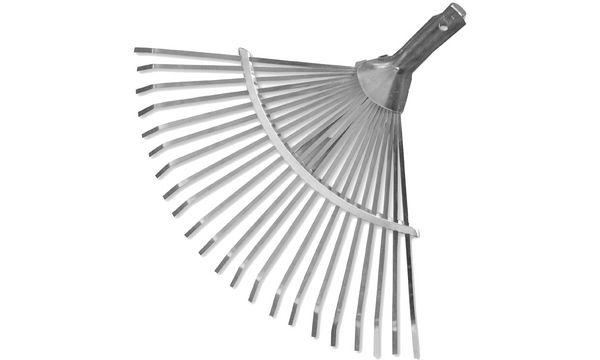 Bradas Verstell-Fächerrechen-Aufsatz, aus Aluminium