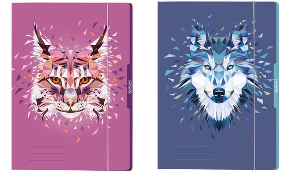 herlitz Zeichnungsmappe Wild Animals Luchs, DIN A4