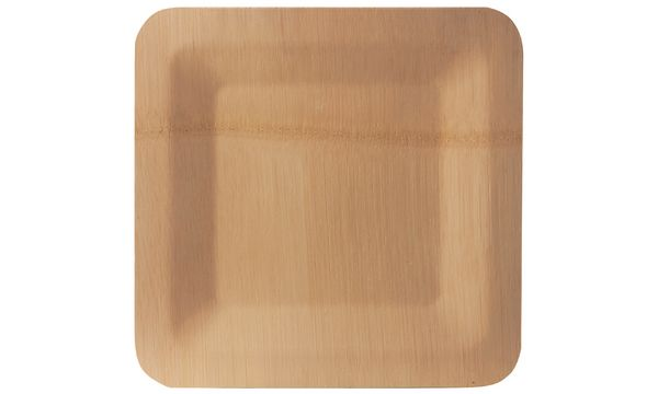 PAPSTAR Bambus-Teller pure, eckig, 180 x 180 mm, 10er