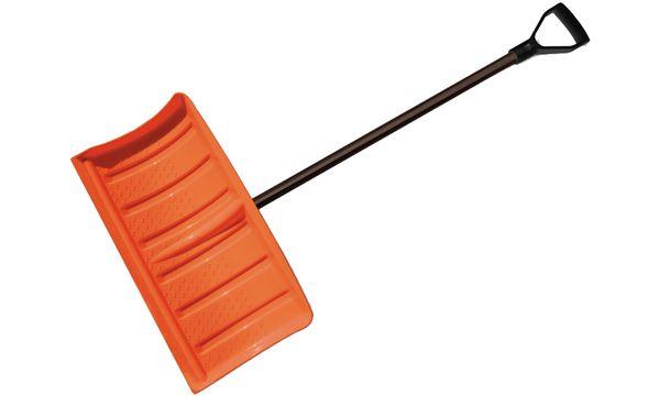 Bradas Schneeschieber mit Metallstiel, schwarz/orange