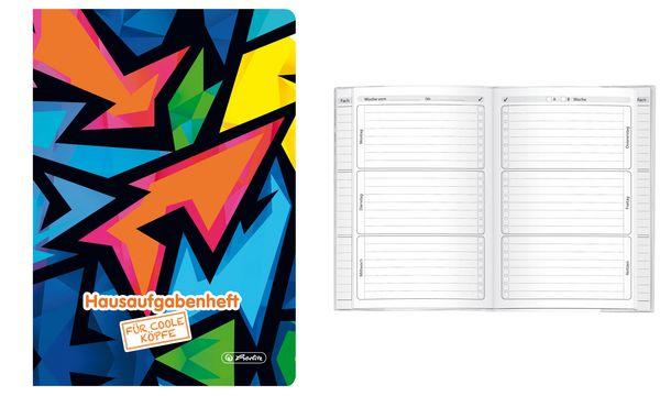 herlitz Hausaufgabenheft Neon Art, A5, 48 Blatt
