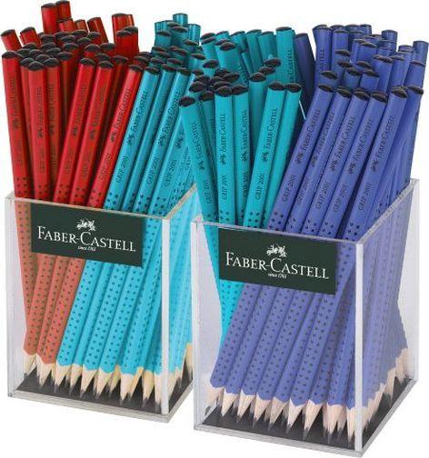 FABER-CASTELL Bleistift GRIP 2001 rot/blau/türkis, im Kö...
