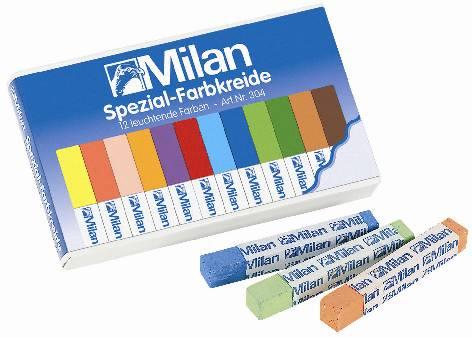 Milan Tafel-Kreide farbig 12er-Sc 9cm Milan 304