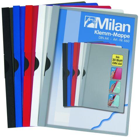 Klemm-Mappe A4 Milan grau