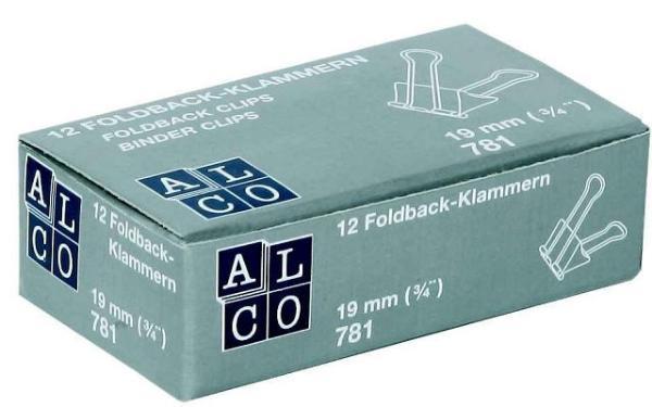 Brief-Klemmer Foldback 19mm schwarz 12St