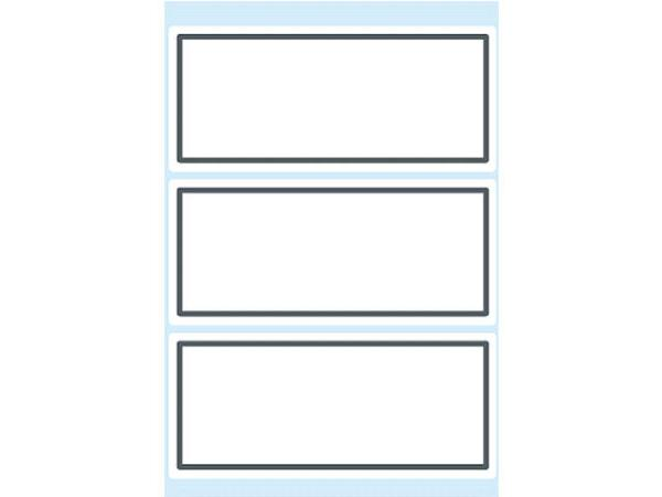 Heftschild  36X80Mm Grauer Rand