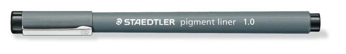 #10xFaserschreiber Pigment- liner 1,0mm schwarz