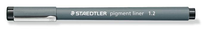 #10xFaserschreiber Pigment- liner 1,2mm schwarz
