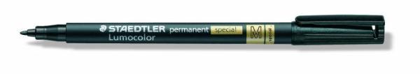 #10xLumocolor Folienstift M schwarz permanent spezial