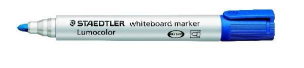 #10xWhite-Board-Marker 351 Blau Lumocolor