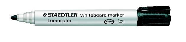 #10xWhite-Board-Marker 351 Schwarz Lumocolor