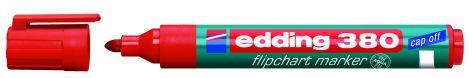 #10xEdding Flipchart Marker Cap-Off 380 Rot Rundspitze