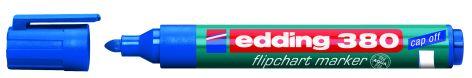 #10xEdding Flipchart Marker Cap-Off 380 Blau Rundspitze
