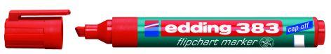 #10xEdding Flipchart Marker Cap-Off 383 Rot Keilspitze