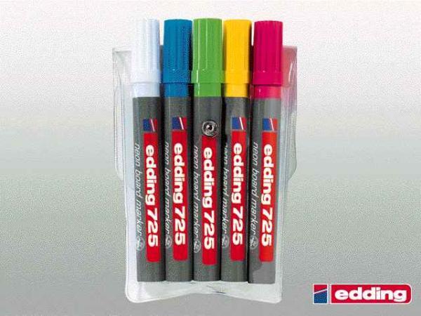 Edding Neon-Board-Marker 5Er-Etui 7255S