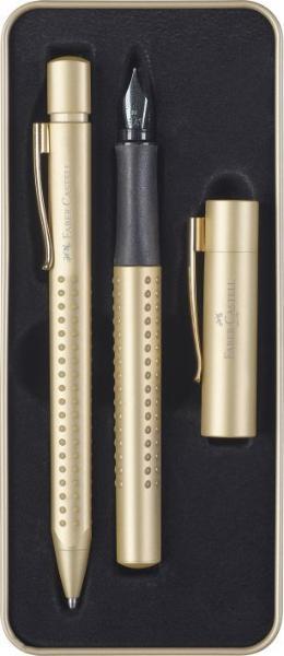FABER CASTELL Geschenkset FH+KS GRIP Edition Gold