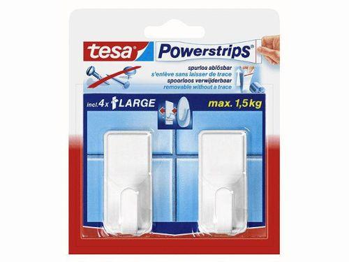 tesa Powerstrips Haken LARGE Classic, weiss
