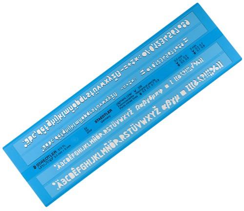 Schriftschablone 3,5  5mm gerade