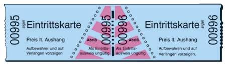 Eintrittskarten Rolle  blau