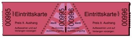 Eintrittskarten Rolle  rot