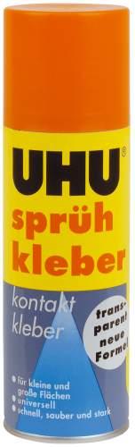 UHU Sprühkleber, permanent, transparent, 200 ml